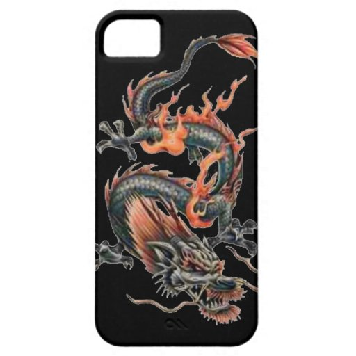 Dragon tattoo art cool fantasy creature fire iPhone 5 case