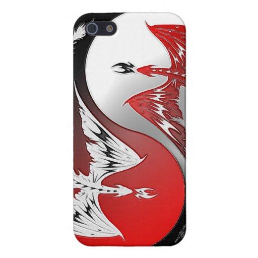 Dragon tattoo art cool fantasy creature fire tat J iPhone 5 Cover