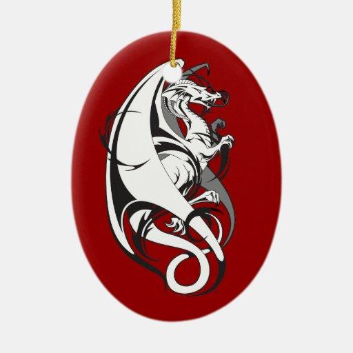 Dragon Tattoo Ceramic Ornament
