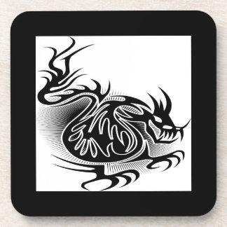 Dragon tattoo design drink coaster