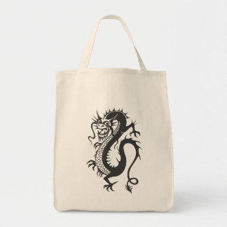 Dragon Tattoo Fantasy Fiction Drawing Cartoon Art Tote Bag