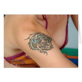 Dragon tattoo   greeting card