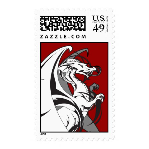 Dragon Tattoo Postage Stamps