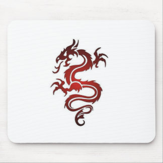 Dragon Tattoo - Red Mouse Pad