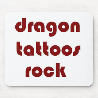 dragon tattoos rock mouse pad