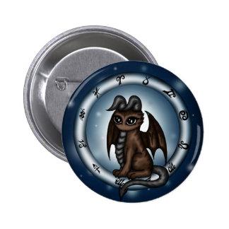 Dragon Taurus Zodiac Button
