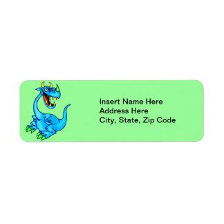 Dragón temible etiqueta de remite