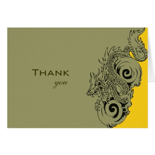 Dragon Thank You Card
