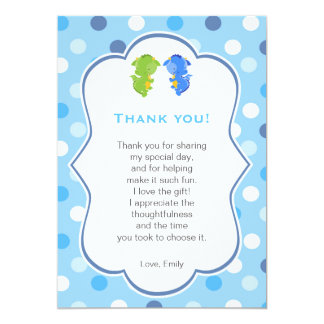 Dragon Thank You Card Note Twins