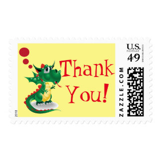 Dragon Thank You Postage Stamp
