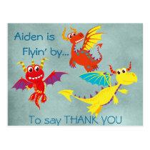 Dragon THANK YOU postcard (personalize)