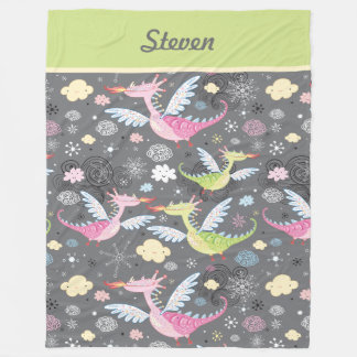 Dragon Themed Fleece Blanket