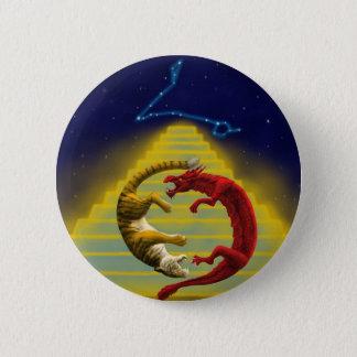 Dragon Tiger Constellation Pinback Button
