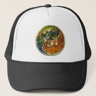 DRAGON TIGER TRUCKER HAT