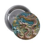 dragon tile pinback button