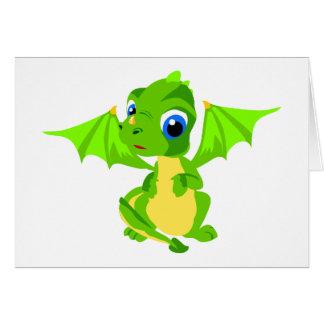 Dragón tímido del bebé felicitaciones