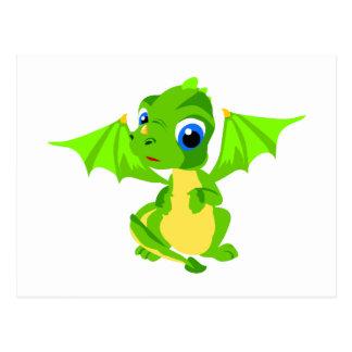 Dragón tímido del bebé postales