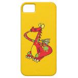 dragón tonto con la cola en boca iPhone 5 carcasa