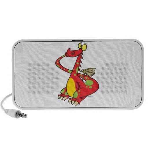 dragón tonto con la cola en boca iPhone altavoz