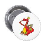 dragón tonto con la cola en boca pin