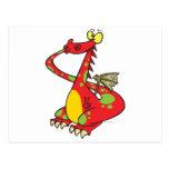 dragón tonto con la cola en boca postal