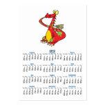 dragón tonto con la cola en boca tarjetas de visita grandes