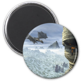 Dragon Tower 2 Inch Round Magnet