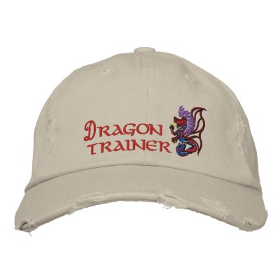 Dragon trainer embroidered hats