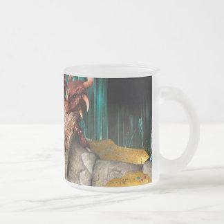 Dragon Treasure Frosted Glass Coffee Mug