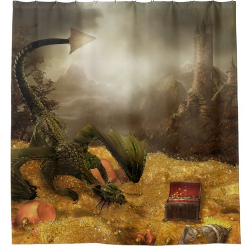 Dragon Shower Curtains Gifts For Dragon Lovers