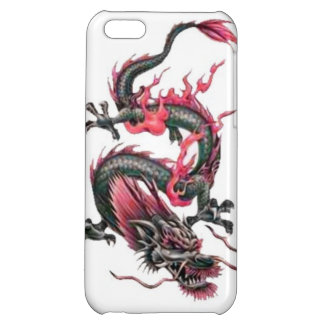 Dragon tribal art tattoo cool color design iPhone 5C case
