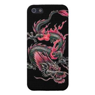 Dragon tribal art tattoo cool color design iPhone SE/5/5s case