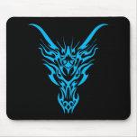 Dragón tribal azul Mousepad Tapete De Ratón