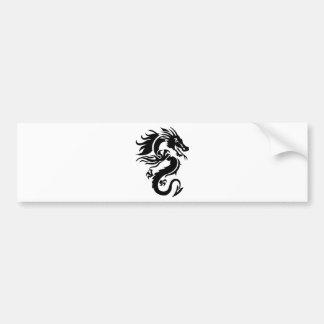 Dragon Tribal Bumper Sticker