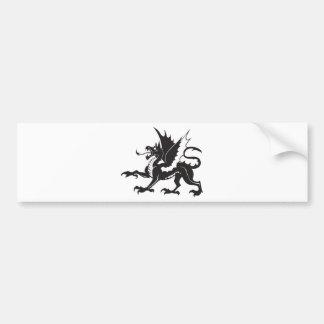 dragon-tribal bumper sticker