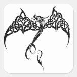 Dragón tribal céltico calcomanias cuadradas