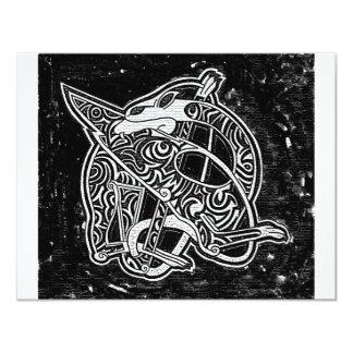 """Dragón tribal céltico invitación 4.25"""" x 5.5"""""""