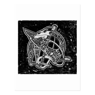 Dragón tribal céltico postal