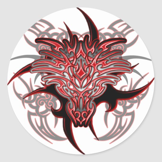 Dragon Tribal Classic Round Sticker
