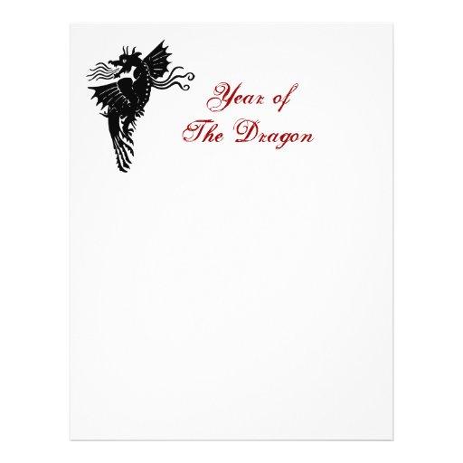"""Dragón tribal folleto 8.5"""" x 11"""""""