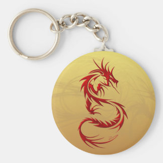 Dragón tribal llavero redondo tipo pin
