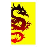 dragón tribal plantilla de tarjeta de negocio