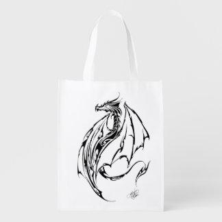 Dragon Tribal Reusable Grocery Bag