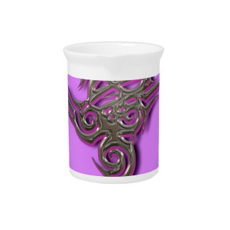 Dragon tribal sign ocult scarry pitcher