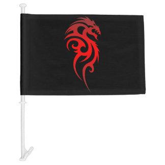 Dragon Tribal Symbol Car Flag