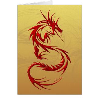 Dragón tribal tarjeta de felicitación