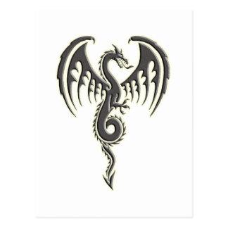 Dragón tribal tarjetas postales