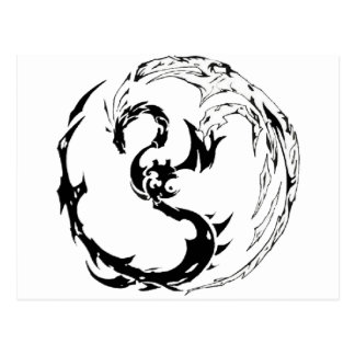Dragón tribal tarjeta postal