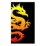 dragón tribal tarjetas de visita