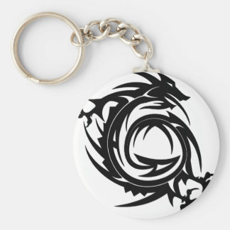 Dragon Tribal Tattoo Keychain
